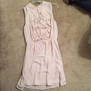 Tan ruffle dress 👡
